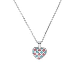 Herzkette für Mädchen aus 925er Silber mit Emaille