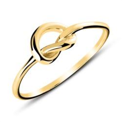 Herzring aus vergoldetem Sterlingsilber