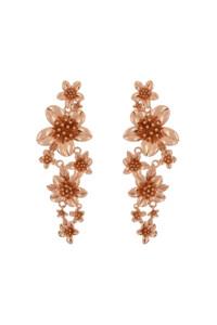 HIBISCUS BOUQUET Ohrringe rosé vergoldet