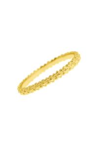 ICONIC RHOMB Ring gelb vergoldet