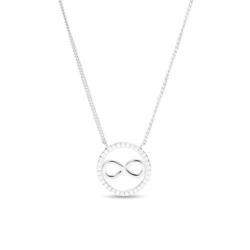 Infinity Kette für Damen aus 925er Silber mit Zirkonia