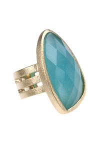 Jade Ring vergoldet