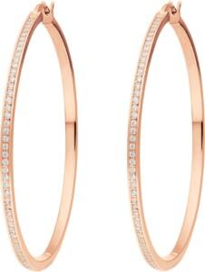 JETTE Damen-Creolen 925er Silber 116 Zirkonia Jette roségold