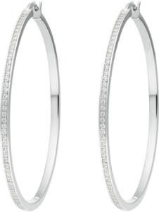 JETTE Damen-Creolen 925er Silber rhodiniert 116 Zirkonia Jette silber