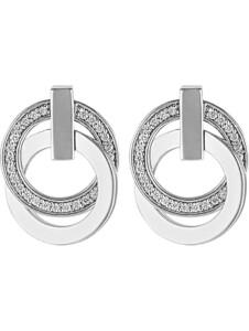 JETTE Damen-Ohrstecker 925er Silber rhodiniert 58 Zirkonia Jette silber