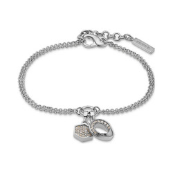 JETTE Silver Armband Connection