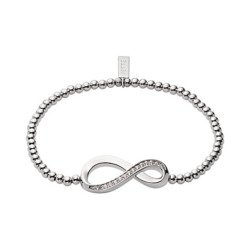 JETTE Silver Armband Endless Love