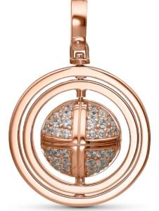 JETTE Silver Damen-Charm Lucky Charm 925er Silber 80 Zirkonia Jette roségold