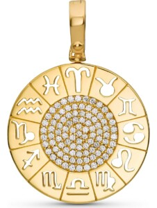 JETTE Silver Damen-Charm Lucky Charm 925er Silber 94 Zirkonia Jette gold