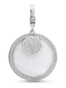 JETTE Silver Damen-Charm Lucky Charm 925er Silber Zirkonia Jette silber