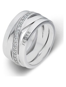 JETTE Silver Damen-Damenring 925er Silber 43 Zirkonia Jette silber