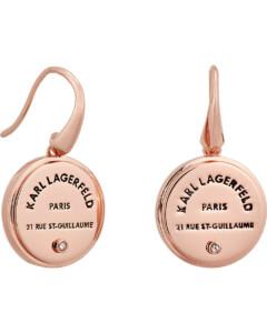 Karl Lagerfeld Damen-Ohrhänger Messing