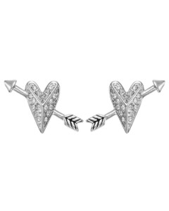 Karl Lagerfeld Damen-Ohrstecker Hearts and Arrows Stud ER Messing/Titan