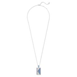 Karl Lagerfeld Geometric Halskette, blau, palladiniert