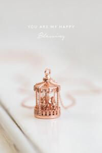 KARUSSELL Halskette rosé vergoldet – LIMITED EDITION