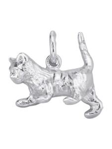 Katzen-Anhänger Diemer Highlights Silberfarben