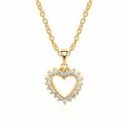 Kette Anhänger Herz 585er Gold 20 Diamanten