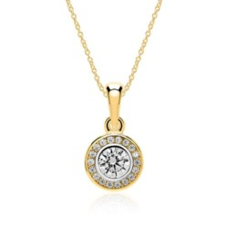 Kette für Damen aus 375er Gold mit Zirkonia