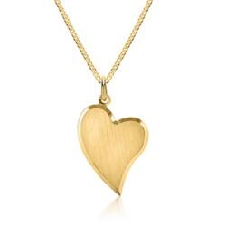 Kette mit 333er Goldanhänger Herz gravierbar