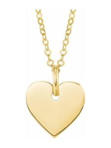 Kette mit Anhänger für Damen, Gold 585, Herz amor Gold