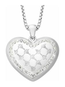 Kette mit Anhänger für Damen, Sterling Silber 925, Herz JOOP! Silber
