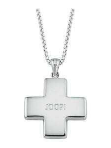 Kette mit Anhänger für Damen, Sterling Silber 925, Kreuz JOOP! Silber
