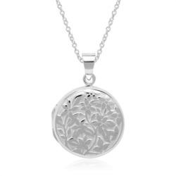 Kette mit gravierbarem Medaillon aus Sterlingsilber