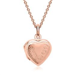 Kette mit Herz Medaillon 925er silber roségold