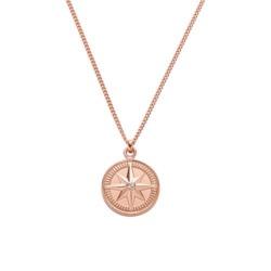 Kette Windrose für Damen aus 925er Silber, rosé