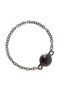 Ketten-Ring Spinell Sterling Silber geschwärzt