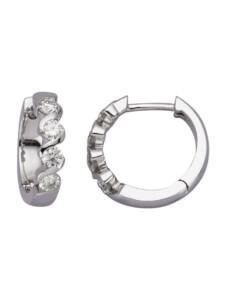 Klappcreolen mit Brillanten Diemer Diamant Weiß