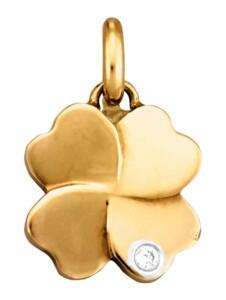 Kleeblatt-Anhänger Diemer Diamant Gelbgoldfarben