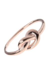 Knoten Ring rosé vergoldet