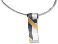 Kreuchauff-Design: Collier 'Black and Gold', Collier, Schmuck