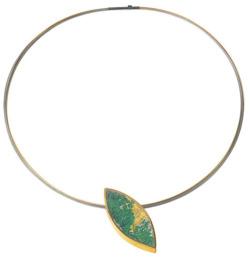 Kreuchauff-Design: Collier 'Ellipse', grüne Version, Collier, Schmuck