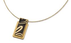 Kreuchauff-Design: Collier 'Golden Line', Collier, Schmuck