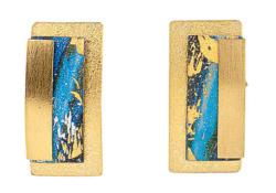 Kreuchauff-Design: Ohrstecker 'Magic Blue', Schmuck