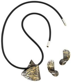 Kreuchauff-Design: Schmuckset 'Black Tiger', Schmuckset