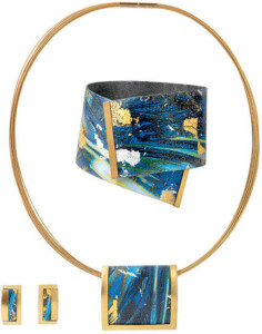 Kreuchauff-Design: Schmuckset 'Magic Blue', Schmuckset