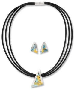 Kreuchauff-Design: Schmuckset 'Triangulo', Schmuckset