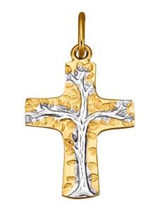 Kreuz-Anhänger Diemer Gold Gelbgoldfarben