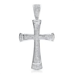 Kreuzanhänger 925 Silber mit Zirkonia