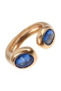 Kyanit Ring vergoldet