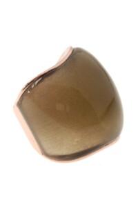 Labradorit Ring rosé vergoldet
