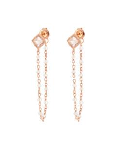 LABRADORITE PEARLS|Ear Jackets Rosé