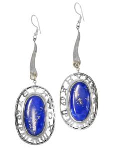 Lapis Ohrhänger Anhänger 925 Silber 1001 Diamonds blau