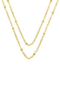 LAYER BEADS Halskette gelb vergoldet