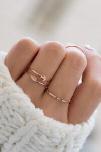 LEAF Ring rosé vergoldet