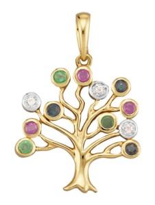 Lebensbaum-Anhänger Diemer Farbstein Multicolor