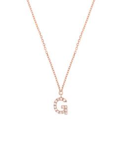 LETTER Halskette G|14K Roségold
